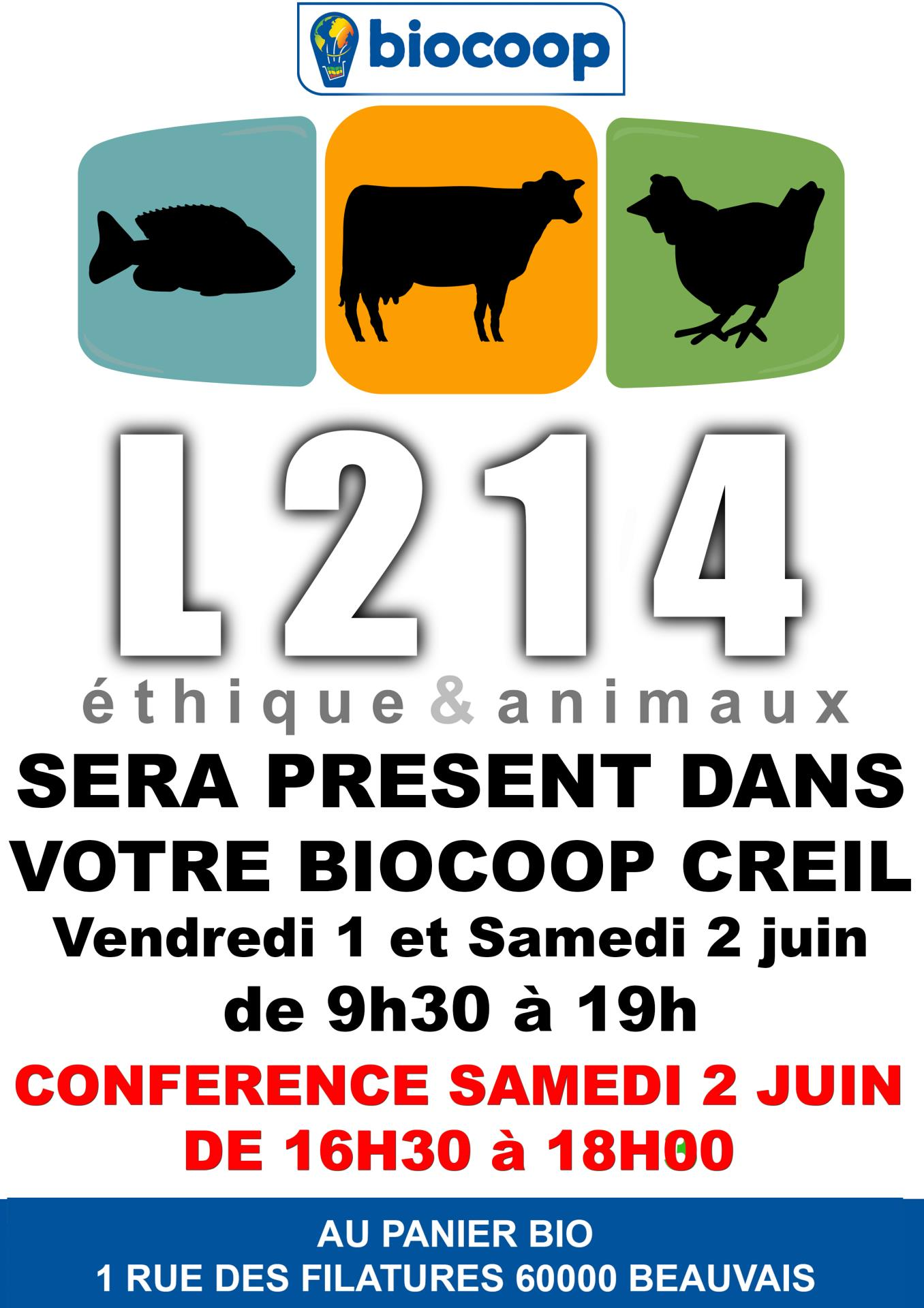 CONFERENCE ASSOCIATION L214 VILLAGE EXPO 01 ET 02 JUIN 2018