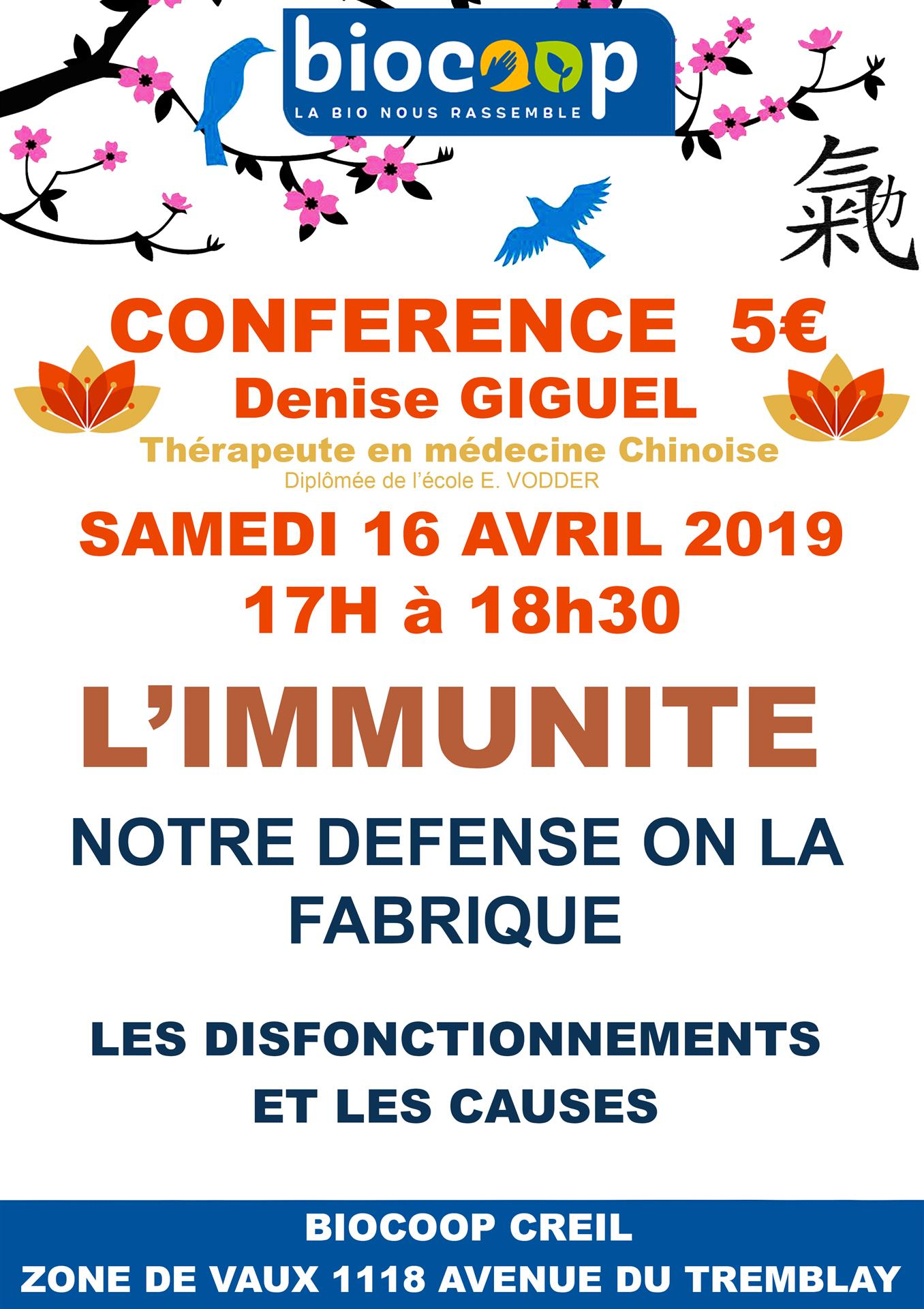CONFERENCE MEDECINE CHINOISE AVEC DENISE GIGUEL